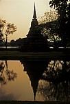 Geschichtspark Sukhothai im Abendlicht - Sukhothai
