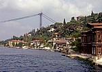 Fatih-Sultan-Mehmet-Brücke im Bau - Bosporus