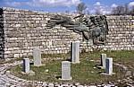 Mahnmal zum Gedenken an das Wehrmachtsmassaker von 1943 - Borova