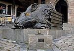 Bronzeplastik von Jürgen Goertz: Dürerhase - Nürnberg