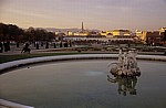 Belvedere: Blick auf die Kaskaden und Teiche - Wien