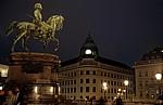 Reiterdenkmal Erzherzog Albrechts bei Nacht - Wien