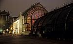 Burggarten: Gewächshäuser bei Nacht - Wien