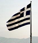 Griechische Flagge - Patras