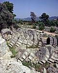 Die umgestürzten Säulen des Zeustempel - Olympia