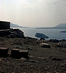 Blick vom Poseidontempel auf den Saronischen Golf - Kap Sounion
