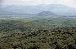 Terrassierte Felder - Albanische Riviera