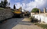 Straße Sarandë - Vlorë: Baustelle - Albanische Riviera