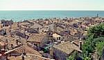 Blick auf die Dächer der Altstadt - Piran