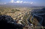 Blick von der Burg (Kalaja): Mangalem und Osum-Tal - Berat - Berat