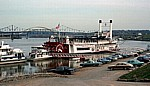 Mississippi-Dampfer (Betty Blake) auf dem Ohio - Cincinnati
