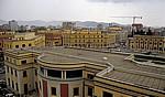 Blick vom Uhrturm auf den Sheshi Skanderbeg (Skanderbeg-Platz) - Tirana