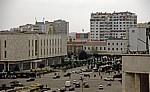 Blick vom Uhrturm: Hochhäuser dem Sheshi Skanderbeg (Skanderbeg-Platz) - Tirana