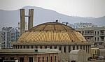 Blick vom Uhrturm: Auferstehungskathedrale (im Bau) - Tirana