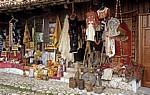 Souvenirgeschäft in der Basarstraße - Kruja