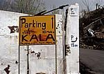 Hinweisschilder für Parkplätze - Kruja