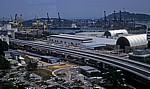 Blick vom Mount Faber: Keppel-Hafen - Singapur