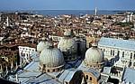 Blick vom Campanile: Basilica San Marco - Venedig