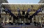 Park der Villa Pisani: Bühne für das Mark-Knopfler-Konzert - Stra
