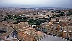 Petersdom: Blick von der Kuppel - Vatikan