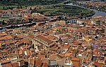 Blick vom Castello Malaspina (Serravalle): Altstadt, Fiume Temo - Bosa