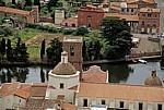 Blick vom Castello Malaspina (Serravalle): Kathedrale dell' Immacolata - Bosa