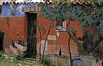 Bemaltes Haus in der Oberstadt - Bosa