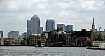 Blick auf die Docklands - London