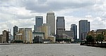 Blick auf die Docklands: Canary Wharf - London
