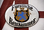 Schild: Fürstliche Rentenkammer - Braunfels