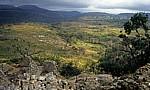 Blick von der Akropolis (Bergruine) auf die Eastern und South Eastern Enclosure - Great Zimbabwe Ruins