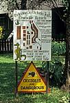 Schild Crocodile Ranch - Victoria Falls