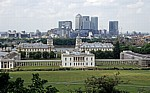 Blick vom Old Royal Observatory: Royal Naval College (Greenwich University) - London