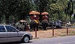 Verschiedene Transportmittel: alt und neu - Ayutthaya