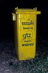 Mülltonne - ein Projekt der GTZ - Kanchanaburi