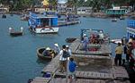 Korbboote im Hafen - Hon Mieu
