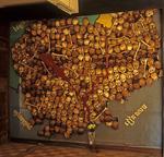 Tuol-Sleng-Museum (S-21): Aus Knochen und Schädeln geformte Landkarte Kambodschas - Phnom Penh