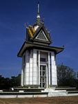Killing Fields von Choeung Ek: Gedenk-Stupa - Phnom Penh
