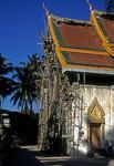 Baugerüst an einem Wat - Vientiane