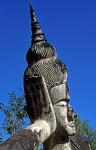 Buddha-Park Xieng Khuan: Kopf des liegenden Buddhas - Vientiane