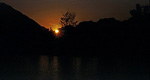 Sonnenuntergang über Nam Song - Vang Vieng