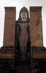 Geschichtspark Sukhothai: Wat Mahathat im Abendlicht - Sukhothai