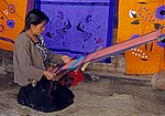 Frau beim Weben - Zinacantán