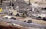 Blick von der Zitadelle auf eine Baustelle - Aleppo