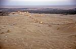 Blick von der Qalaat Ibn Maan (Burg) auf Palmyra - Palmyra