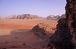 Blick von einer Sanddüne - Wadi Rum