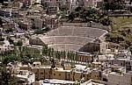 Blick vom Jebel al-Qalaa (Zitadelle): Römisches Theater - Amman
