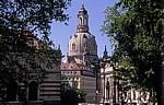 Innere Altstadt: Blick vom Brühlschen Garten auf die Frauenkirche - Dresden