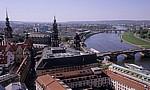 Innere Altstadt: Bick von der Kuppel der Frauenkirche - Elbe, Innere Neustadt - Dresden