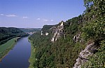 Blick zur Elbe mit dem Wartturm - Sächsische Schweiz